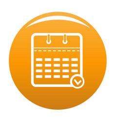 calendar modern icon orange vector image