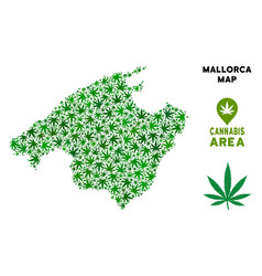 Cannabis composition spain mallorca island vector