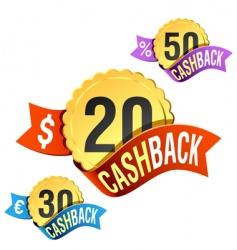 cash back emblem vector image