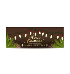 christmassy banner for christmas and new year vector image