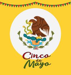 cinco de mayo poster design symbol mexican vector image