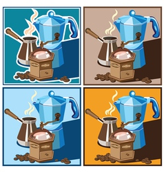 Classic coffee set vector