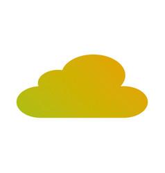 cloud sky climate meteorology design vector image
