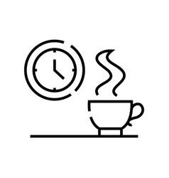 coffee break line icon concept sign outline vector image
