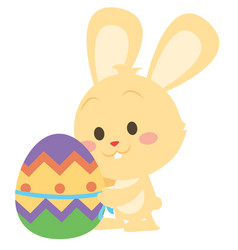 collection of yellow bunny easter design vector image