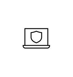 computer protection icon vector image