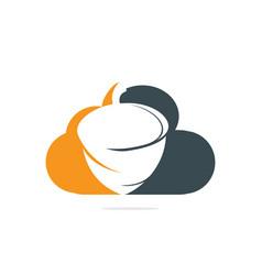 Creative acorn cloud shape logo design vector