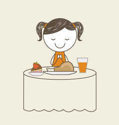Cute kid design vector