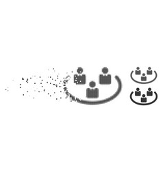 Damaged pixel halftone social networks icon vector
