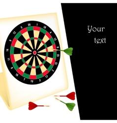 Dart board with darts vector