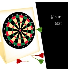 Dart board with darts vector image