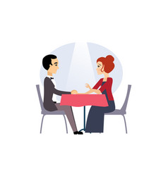 date in a restaurant daily routine activities of vector image