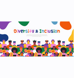 diversity inclusion people crowd web template vector image