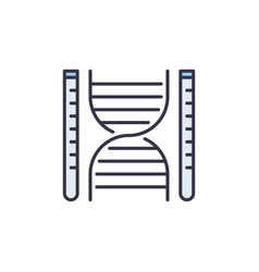 dna with test tubes concept minimal icon vector image