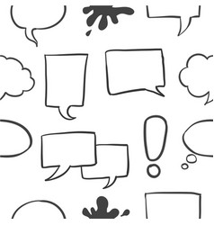 Doodle of speech bubble collection vector