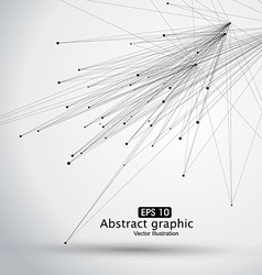 Dot and line consisting of abstract graphics vector