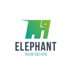 elephant emblem for your business company logo vector image