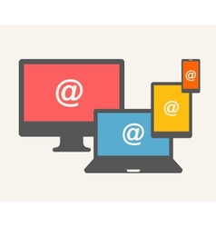 Email concept vector