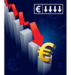Euro Currency Crash vector image
