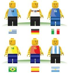Football toys vector