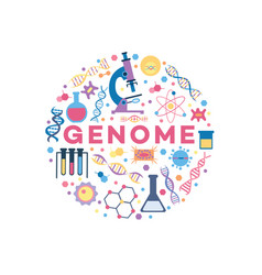 genome related objects vector image