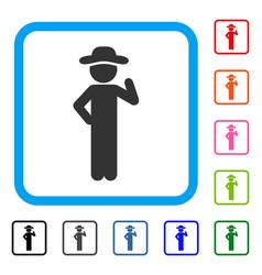 gentleman proposal framed icon vector image