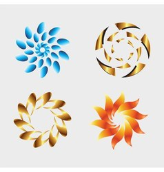 Graphic elements logo design with round and swirl vector