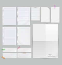 group of paper background vector image