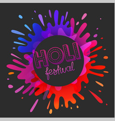 Indian holi festival banner with artistic vector