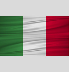 italy flag flag of italy blowig in the wind the vector image