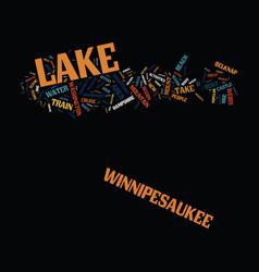 Lake winnipesaukee new hampshire s playground vector