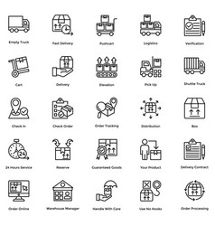 logistic delivery icons set 7 vector image