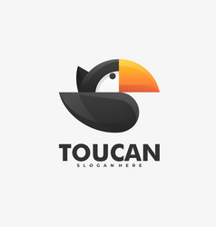 logo toucan gradient colorful style vector image