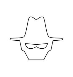 malware spyware head vector image