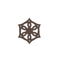 mandala icon vector image