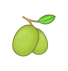 Olive branch icon cartoon style vector image