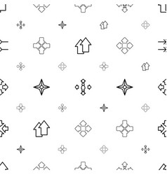 orientation icons pattern seamless white vector image