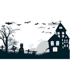 original halloween night party poster vector image