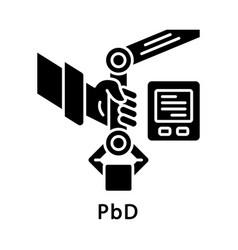 Pbd glyph icon vector