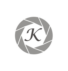 Photography service letter k vector