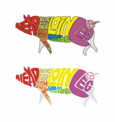 pig parts vector image