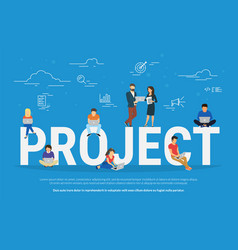 project concept business people vector image