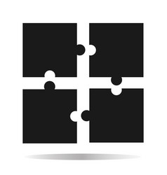 Puzzle icon creative group symbol cooperation vector