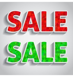 Red and green sale vector image