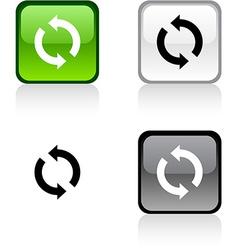 Refresh button vector