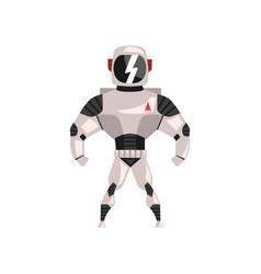 Robot spacesuit superhero cyborg costume vector