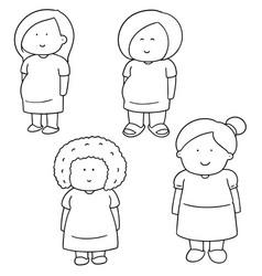 Set of pregnant woman vector