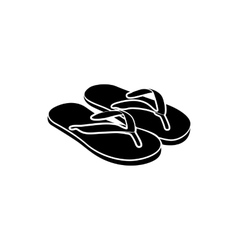 Slipper icon simple style vector