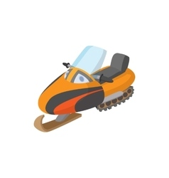 Snowmobile icon cartoon style vector image