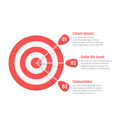 target with three arrows vector image